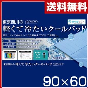 クールエコーエクストラアイス(COOLECHO EX ICE α) 軽量冷感敷きパッド(90×60) PIP0500087B ブルー 西川 シングル 冷却マット ベッドパッド
