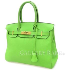 エルメス バーキン30 cm ハンドバッグ アップルグリーン×ゴールド金具 トリヨンクレマンス H刻印 HERMES Birkin バッグ