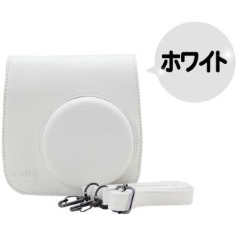 FUJIFILM 富士フイルム チェキ instax mini 8 8s 8+ 9 インスタントカメラ 専用 カメラケース (ホワイト) 【ロワジャパン】