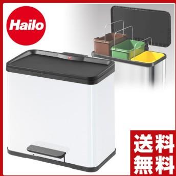 ハイロ(Hailo) スチール ペダルペール ごみ箱 分別 トレントエコトリオ33(11L×3) スクエア 角型 ダストボックス ペダル式ゴミ箱 ごみ箱 ゴミ箱 ふた付き