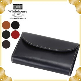【お盆もあすつく】 ホワイトハウスコックス Whitehouse Cox 3 Fold Purse CLOSE 14cm × 9.5cm OPEN 14cm × 25cm S7660 財布