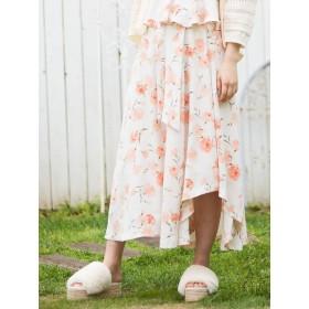[MERCURYDUO]カーネーションプリントロングスカート