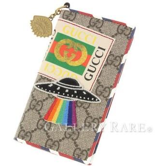 グッチ アイフォンケース GGスプリーム クーリエ IPHONE7 IPHONE6 474316 GUCCI 手帳型 スマホケース 携帯ケース アップリケ UFO