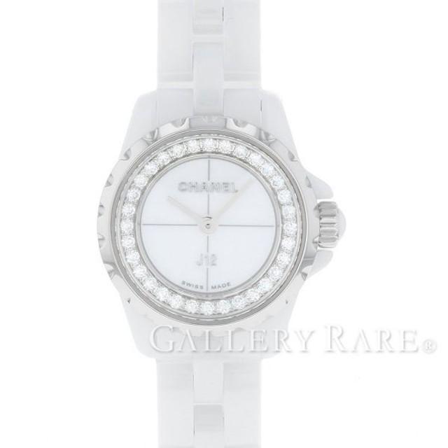 シャネル J12 XS 19mm ホワイトセラミック ダイヤモンド 0.27ct H5237 CHANEL 腕時計 ベゼルダイヤ レディース