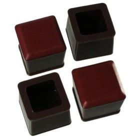 ハイロジック:スライドクッション 21〜24ミリ 茶 角キャップS 入数1袋(4個) 00057165