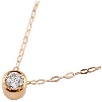 ダイヤモンドネックレス ダイヤモンド 一粒 ネックレス ダイヤ 大粒 ペンダント ピンクゴールドk18 18金 レディース チェーン 人気 送料無料