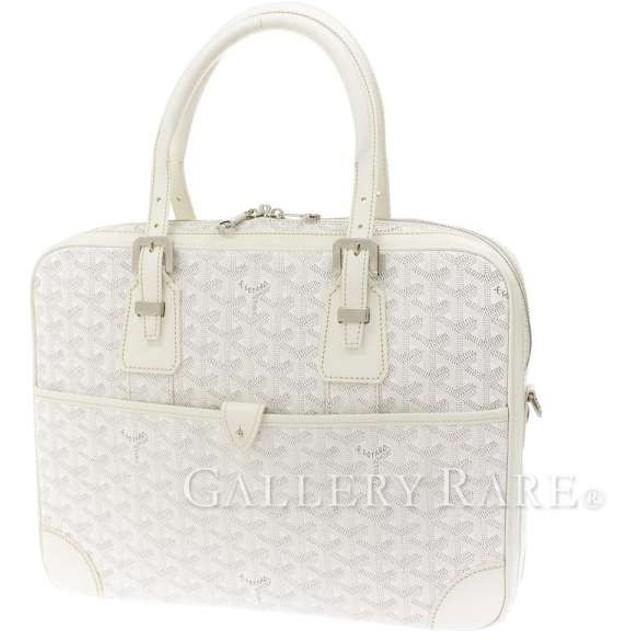premium selection 56143 b9216 ゴヤール ビジネスバッグ アンバサードPM PVC ホワイト GOYARD ...