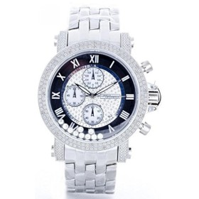 db24a3e4da6 ジョジーノ 腕時計 メンズウォッチ JOJINO Real Diamond Watch Mens Silver Tone Case Metal  Band Black Face