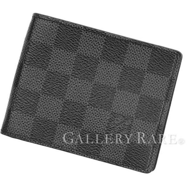 new product 43416 1b112 ルイヴィトン 二つ折り財布 ダミエ グラフィット ポルトフォイユ ...
