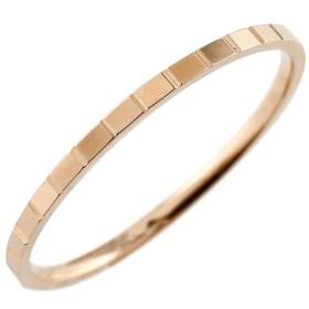 メンズ 指輪 ピンクゴールドk10 カットリング 地金 ストレート 男性用 10金 送料無料