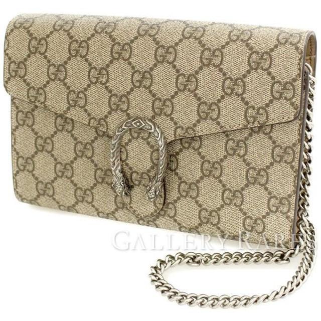 b29ba6d523e3 グッチ チェーンウォレット GGスプリーム ベージュ PVC 401231 GUCCI 財布 バッグ ショルダーバッグ