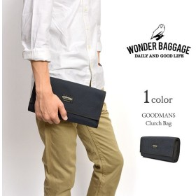 WONDER BAGGAGE(ワンダーバゲージ) グッドマンズ クラッチバッグ / メンズ / 日本製
