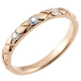 ピンキーリング ダイヤモンド ブルームーンストーン ピンクゴールドk10 10金 k10 アンティーク ストレート チェック柄 6月誕生石 指輪 ダイヤリング
