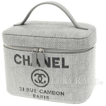 中古 CHANEL シャネル バニティバッグ ドーヴィル デニム ココマーク キャンバス A84212