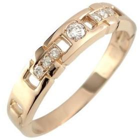 ピンキーリング ダイヤモンドリング ピンクゴールドK10 指輪 ダイヤモンド0.11ct K10 10金 ダイヤ ストレート 送料無料