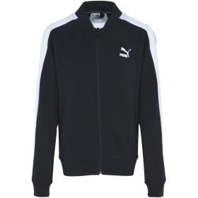 《期間限定 セール開催中》PUMA レディース ブルゾン ブラック XS コットン 68% / ポリエステル 32% Classics T7 Track Jacket