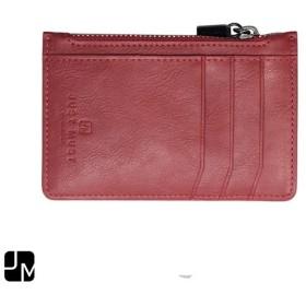 JM(ジェイエム):ジッパーコインケース(カードポケット有)ZIPPER POUCH PURE Wine BLJMLS0001-WN
