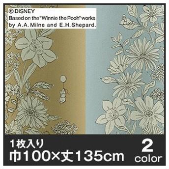 カーテン ディズニーファン必見スミノエ Disney 既製カーテン POOH/Parterre(パルテール) 巾100×丈135cmM-1155-135/M-1156-135