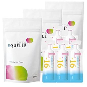 大塚製薬 エクエル パウチ 120粒入り×3袋 + 乳酸菌生成エキスL-16(お試し5包) エクオール