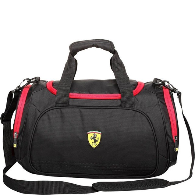607ab0360306 バッグ リュック フェラーリ Ferrari Casuals Large Sport Bag Small Black TF003A