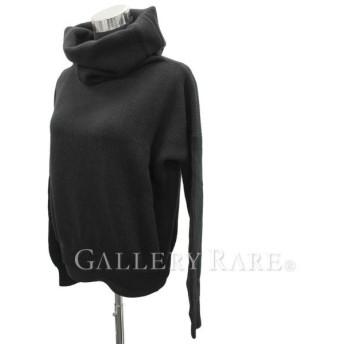 エルメス セーター タートルネック 長袖 ブラック ウール カシミア レディースサイズ36 HERMES 服 指穴ニット