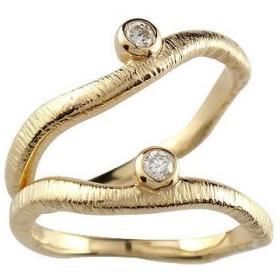マリッジリング 結婚指輪 ペアリング ダイヤモンド 一粒イエローゴールドk18 結婚式 18金 ダイヤ ストレート カップル メンズ レディース 送料無料