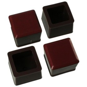 ハイロジック:スライドクッション 25〜28ミリ 茶 角キャップM 入数1袋(4個) 00057166