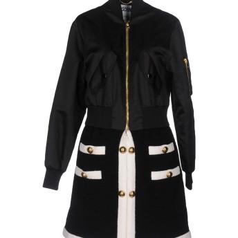 《送料無料》MOSCHINO レディース コート ブラック 38 バージンウール 93% / ナイロン 7% / ポリエステル / 指定外繊維