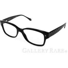 シャネル 眼鏡 ココマーク マトラッセ 3135 c.501 CHANEL 眼鏡フレーム 伊達メガネ キルティング 黒