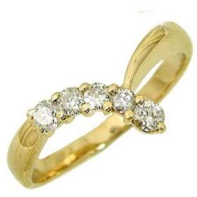 a3bb7e42e6c1 ダイヤモンド リング イエローゴールドK18 婚約指輪 エンゲージリング ダイヤモンド 0.40ct 指輪 18金 ダイヤモンド