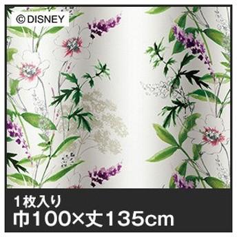 カーテン ディズニーファン必見スミノエ Disney 既製カーテン MICKEY/Wild flower(ワイルドフラワー) 巾100×丈135cm__m-1157-135