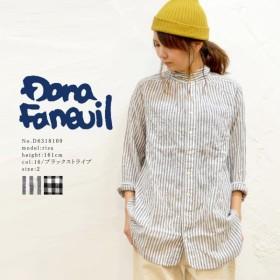 DANA FANEUIL ワンピースカラーロングシャツ ダナファヌル ネコポス不可 D6318109