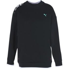 《セール開催中》PUMA レディース スウェットシャツ ブラック XS コットン 77% / ポリエステル 23% Chase Crew Cotton Black