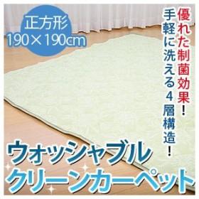 ウォッシャブル クリーンカーペット 正方形 (190×190cm)(RCP-10)