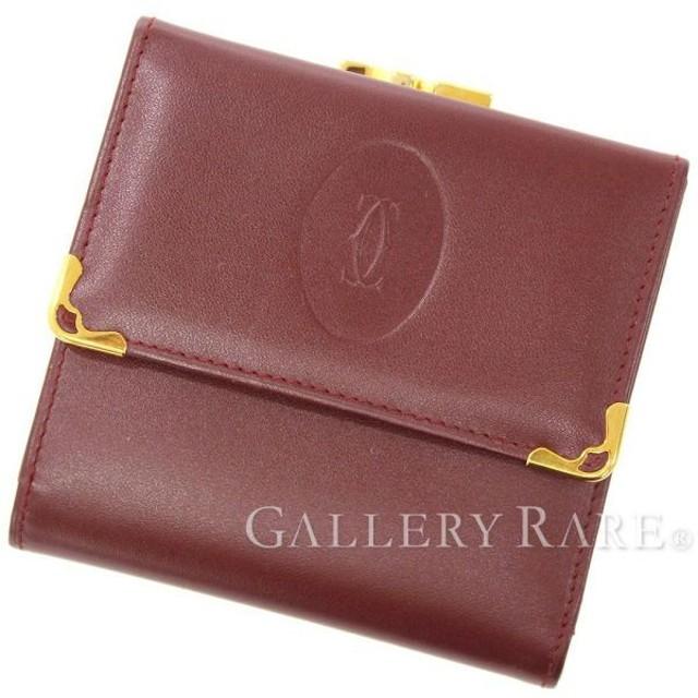 premium selection 1b688 b395b カルティエ 財布 マスト ドゥ カルティエ がま口三つ折り財布 ...