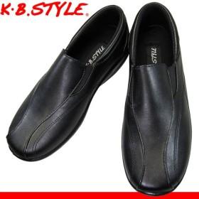 レディース カジュアルシューズ KB.STYLE N121 黒 幅広 軽量 お買い得 作業靴