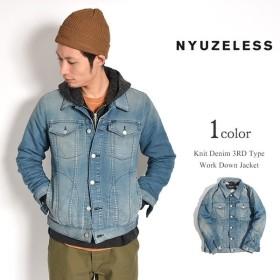 NYUZELESS(ニューズレス) ニットデニム 3rdタイプ ワーク ダウンジャケット / デニムジャケット Gジャン / メンズ / 日本製