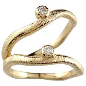 結婚指輪 マリッジリング 人気 ペアリング ダイヤモンド 一粒イエローゴールドk18 結婚式 18金 ダイヤ ストレート カップル 男性用 送料無料