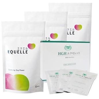 大塚製薬 エクエル パウチ 120粒入り 3袋 + HGH エクセレント(お試し5日分) エクオール