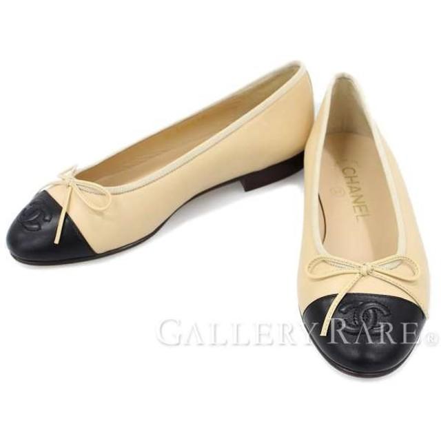 38dbb6d3ec99 シャネル バレエシューズ ココマーク リボン レディースサイズ34C A02819 シューズ フラットシューズ 靴
