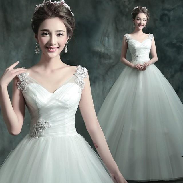 5f7e060c80acf ウエディングドレス 安い 花嫁 ドレス 二次会 ウェディングドレス プリンセス 結婚式 披露宴 ブライダル ロングドレス エンパイア