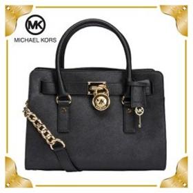 【あすつく】 マイケルコース バッグ EW サッチェル ハミルトン ファッション ブラック 30S2GHMS3L Michael Kors