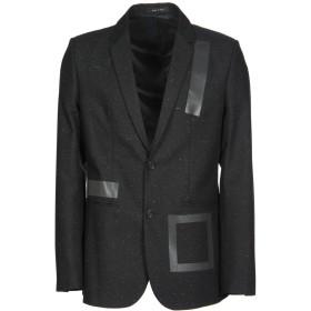 《セール開催中》EMPORIO ARMANI メンズ テーラードジャケット ブラック 48 バージンウール 35% / コットン 30% / ポリエステル 17% / レーヨン 15% / シルク 3%