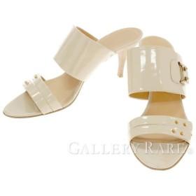 エルメス サンダル ロックモチーフ スタッズ パテントレザー レディースサイズ37 1/2 HERMES 靴 ミュール