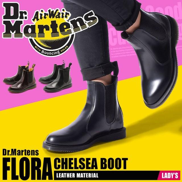 (店内全品クリアランス) ドクターマーチン Dr.Martens ブーツ チェルシーブーツ フローラ レディース