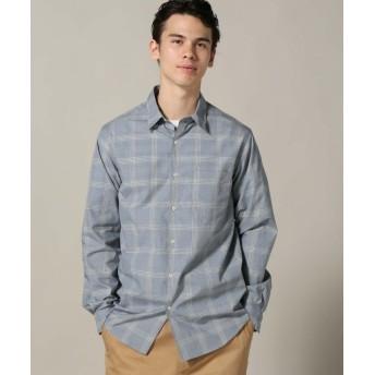 【60%OFF】 エディフィス パターンワイドレギュラーシャツ メンズ ブルーA M 【EDIFICE】 【セール開催中】