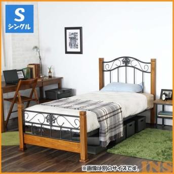 ベッド シングル お洒落 クラシックアイアンベッドS ブラウン CRBSBR (代引不可)(TD)