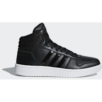 (セール)adidas(アディダス)シューズ カジュアル ADIHOOPS MID 2.0 W FBT62 DB1226 コアブラック/コアブラック/カーボン S18