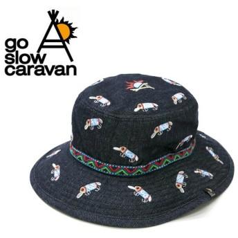 go slow caravan ゴースローキャラバン デニム刺しゅうハット 382907