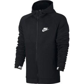 (セール)NIKE(ナイキ)メンズスポーツウェア ジャケット ナイキ AV15 フルジップ フリース フーディ 861743-010 メンズ ブラック/ブラック/(ホワイト)